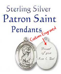 Shop for Personalized Patron Saint Pendants and Medals...