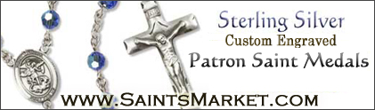 Shop for Sterling Rosaries, Saint Medals, and Pendants at the Saints Market Catholic Store!